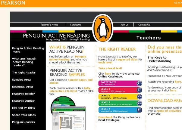 Pearson Penguin Books Website
