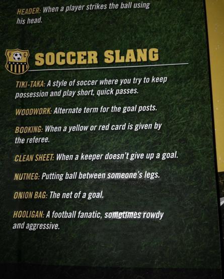 Soccer Slang